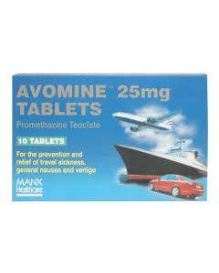 Avomine 25mg Tablets 10