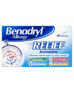Benadryl Allergy Relief 48 Capsules