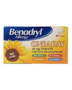 Benadryl Allergy One-a-day 10mg Tablets 30