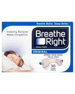 Breathe Right Nasal Strips Natural Large 30