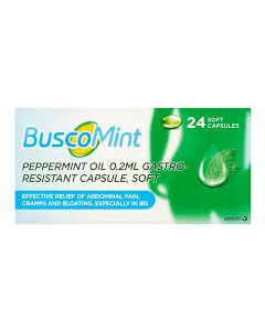 BuscoMint Peppermint Oil Gastro-Resistant 24 Capsules