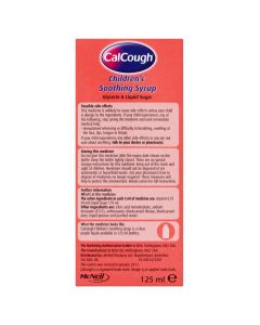 Calcough Childrens Soothing Syrup Blackcurrent Flavour 125ml