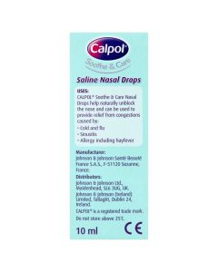 Calpol Saline Nasal Drops 10ml