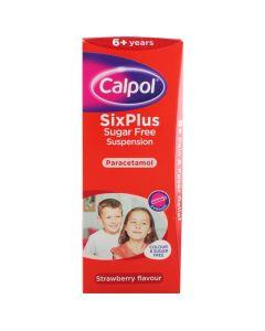 Calpol Six Plus Suspension Sugar & Colour-free 100ml