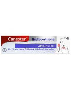 Canesten Hydrocortisone Athlete's Foot 1% w/w Cream 15g
