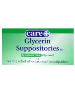 Glycerin Suppositories Infants1g 12