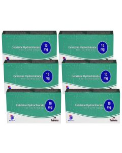 Cetirizine 10mg Tablets - 6 months supply