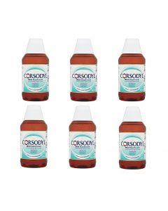 Corsodyl Mint Flavour Mouthwash 300ml - 6 Pack