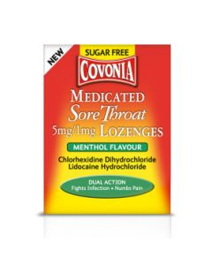 Covonia Medicated Sore Throat 5mg/1mg Lozenge Menthol 36
