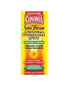 Covonia Sore Throat Oromucosal Spray Menthol 30ml