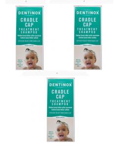 Dentinox Cradle Cap Shampoo 3x125ml
