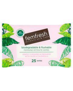 Femfresh Daily Wipes 25