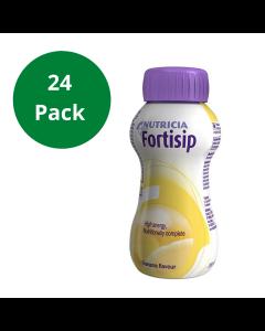 Fortisip Banana High Energy Milkshake Supplement 200ml Bottle - 24 pack