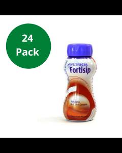 Fortisip Chocolate High Energy Milkshake Supplement 200ml Bottle - 24 Pack