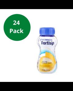 Fortisip Vanilla High Energy Milkshake Supplement 200ml Bottle - 24 Pack