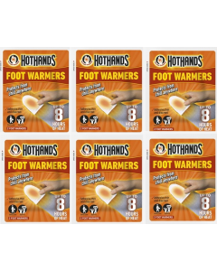 Hot Hands Foot Warmers - 6 Pairs.