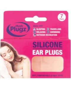 Hush Plugz Silicone Earplugs 7 Pairs
