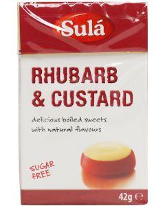 Sula Sugar-free Rhubarb & Custard 42g