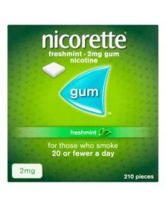 Nicorette Freshmint Gum 2mg 210 Pieces