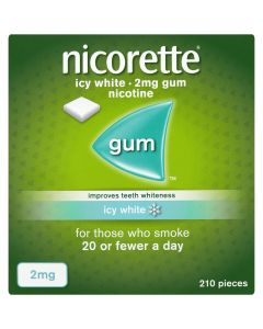 Nicorette Icy White Gum 2mg 210 Pieces