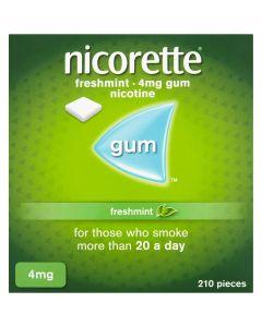 Nicorette Freshmint Gum 4mg 210 Pieces