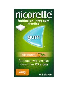 Nicorette Fruitfusion Gum 4mg 105 Pieces