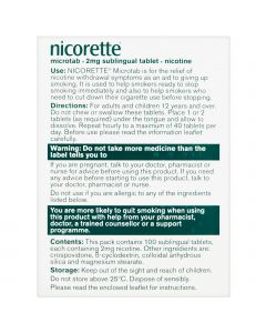 Nicorette Microtab Original 2mg 100