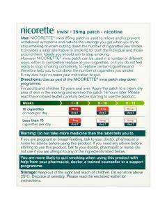 Nicorette Step 1 Invisi 25mg Patch 14