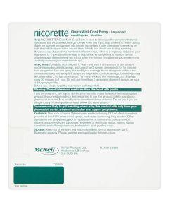 Nicorette QuickMist 1mg/Spray Mouthspray Cool Berry 2 x 150 Sprays