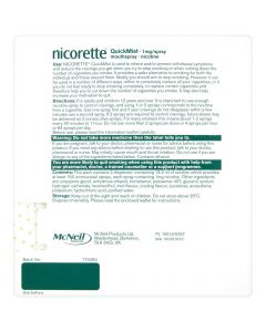 Nicorette QuickMist 1mg/Spray Mouthspray Freshmint 2 x 150 Sprays