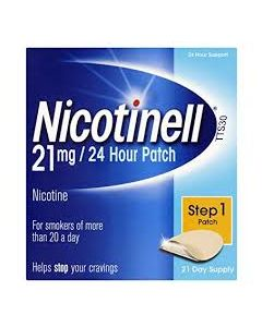 Nicotinell 21mg/24 Hour Patch Step 1 Patch TTS 30 x 21