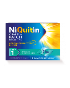 NiQuitin CQ 24 Hour Clear Patches - Step 1 21mg x 7
