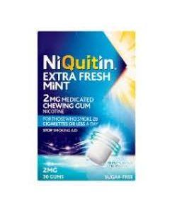 NiQuitin Extra Fresh Mint Gum 2mg 30
