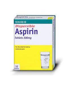 Numark Dispersible Aspirin 300mg Tablets 32