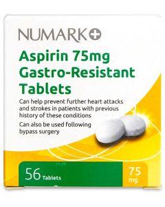 Numark Aspirin Tablets 75mg E/C 56