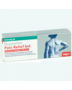 Numark Max Strength Ibuprofen Pain Relief 10% Gel 50g