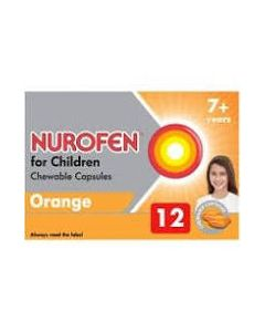 Nurofen for Children Chewable Capsules Orange 7 - 12 Years x 12