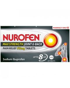 Nurofen Joint & Back Pain Relief 512mg Tablets 24