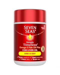 Seven Seas Simply Timeless Cod Liver Oil One-a-Day 60's