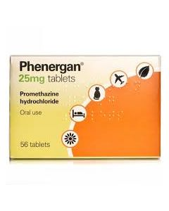 Phenergan 25 mg Tablets 56