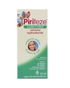 Piriteze Allergy Syrup Once-a-day 70ml