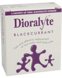 Dioralyte Supplement Sachets Blackcurrant 6 Blackcurrant