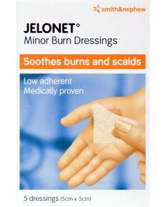 Jelonet Paraffin Gauze Dressing Consumer/otc Pack 5cm X 5cm 5 Consumer/otc Pack