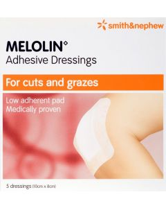 Melolin Adhesive Dressing Consumer/otc Pack 10cm X 8cm 5 Consumer/otc Pack