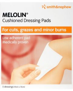 Melolin Low-adherent Absorbent Dressing Consumer/otc Pack 10cm X 10cm 5 Consumer/otc Pack