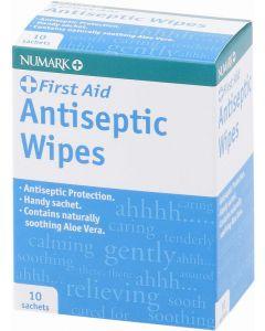 Numark Antiseptic Wipes 10 Antiseptic Wipes