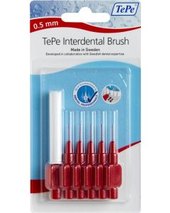 Tepe Interdental Brushes Red 0.5mm 6 Red