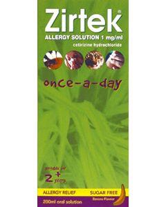 Zirtek Allergy Solution Sugar-free 200ml