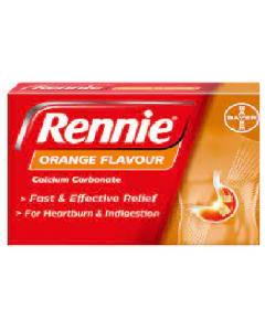 Rennie Chewable Orange Tablets 48