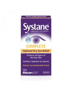 Systane Complete Lubricating Eye Drops for dry eyes 10ml